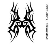 tattoo sketch tribal vector... | Shutterstock .eps vector #620843330