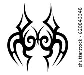 tattoo sketch tribal vector... | Shutterstock .eps vector #620843348