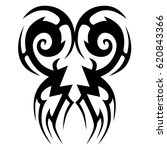 tattoo sketch tribal vector... | Shutterstock .eps vector #620843366