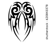 tribal tattoo art designs.... | Shutterstock .eps vector #620843378