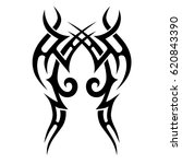 tattoo sketch tribal vector... | Shutterstock .eps vector #620843390