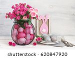 Varicolored Pink Easter Eggs I...