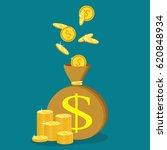 money saving and money bag...   Shutterstock .eps vector #620848934