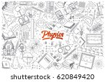 hand drawn physics doodle set... | Shutterstock .eps vector #620849420
