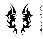 tattoo sketch tribal vector... | Shutterstock .eps vector #620854268