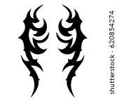 tattoo sketch tribal vector... | Shutterstock .eps vector #620854274
