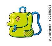 green travel backpack or school ...   Shutterstock .eps vector #620858036