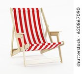 deckchair over white background.... | Shutterstock . vector #620867090