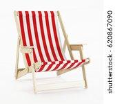 deckchair over white background.... | Shutterstock . vector #620867090