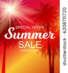 summer sale background vector... | Shutterstock .eps vector #620870720