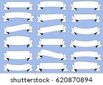 ribbon white vector icon on... | Shutterstock .eps vector #620870894