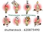 vector arm set traditional... | Shutterstock .eps vector #620875490