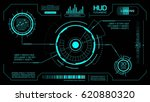 head up display futuristic.... | Shutterstock .eps vector #620880320