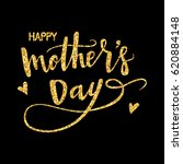 happy mothers day hand drawn... | Shutterstock .eps vector #620884148