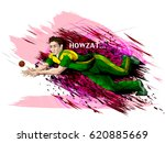 concept of sportsman playing... | Shutterstock .eps vector #620885669