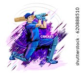 concept of sportsman playing... | Shutterstock .eps vector #620888510