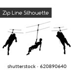 Zip Line Silhouette
