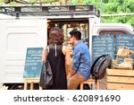 coffee shop front | Shutterstock . vector #620891690