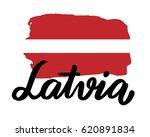 latvia hand drawn ink brush...   Shutterstock .eps vector #620891834