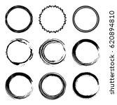 vector set of of black circle... | Shutterstock .eps vector #620894810