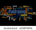 fundraising  word cloud concept ... | Shutterstock . vector #620895896