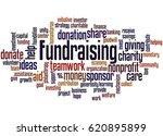 fundraising  word cloud concept ... | Shutterstock . vector #620895899