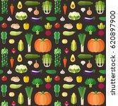 vegetable flat style big vector ... | Shutterstock .eps vector #620897900