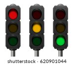 traffic lights with three... | Shutterstock .eps vector #620901044