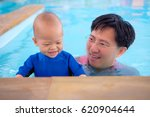selective focus of asian father ... | Shutterstock . vector #620904644