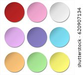 colorful round stick note... | Shutterstock .eps vector #620907134