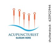 acupuncture therapy logo with... | Shutterstock .eps vector #620922944