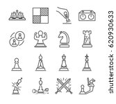 chess line icon set. included... | Shutterstock .eps vector #620930633