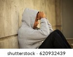 troubled teenager.   | Shutterstock . vector #620932439