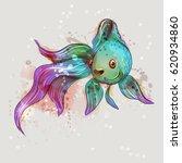 beautiful marine fish. goldfish.... | Shutterstock .eps vector #620934860