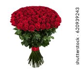 Stock photo red rose isolated large bouquet of red rose on white 620939243