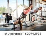 group of athletes doing... | Shutterstock . vector #620943938