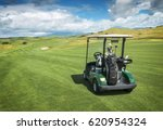 An Image Of Single Golf Cart...