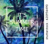 it's summer time wallpaper  fun ... | Shutterstock .eps vector #620956490