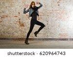 beautiful young lady wear... | Shutterstock . vector #620964743