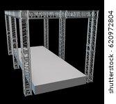 steel truss girder rooftop... | Shutterstock . vector #620972804