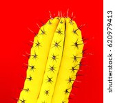 Yellow Cactus. Creative Design. ...