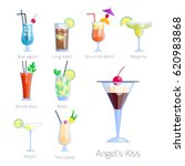 set of alcoholic cocktails... | Shutterstock .eps vector #620983868