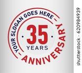 35 years anniversary logo... | Shutterstock .eps vector #620984939