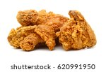 golden brown fried chicken... | Shutterstock . vector #620991950