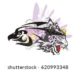 eagle and leopard symbol....