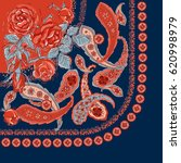 bandana print with design for... | Shutterstock .eps vector #620998979