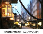 lanterns in front of a... | Shutterstock . vector #620999084