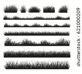 grass field silhouette borders... | Shutterstock .eps vector #621000209