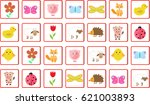 memory game animals vector... | Shutterstock .eps vector #621003893