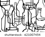 pattern from my drawing of... | Shutterstock . vector #621007454